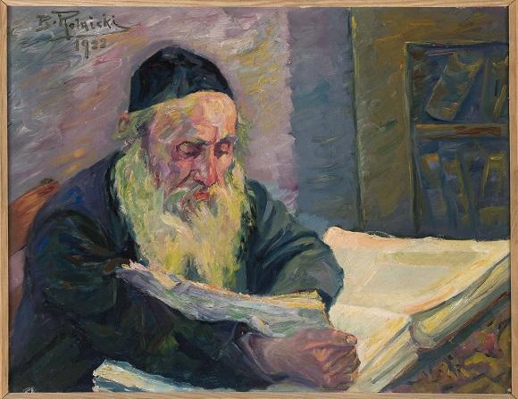 "Rolnicki, Bernard (1895-1942), ""Żyd nad Talmudem"", 1922"