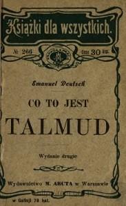 """Emanuel Deutsch, """"Co to jest Talmud?"""", Warszawa 1905"""