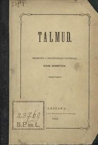 """Emanuel Oskar Menahem Deutsch (1829-1873) """"Talmud"""", Warszawa 1869, przekład Izaak Kramsztyk"""