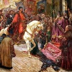"""Mykola Ivasiuk, """"Bohdan Chmielnicki wjeżdża do Kijowa"""", koniec XIX wieku"""