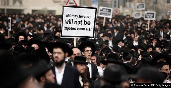 """Protesty przeciwko służbie wojskowej  w """"państwie Izrael"""""""