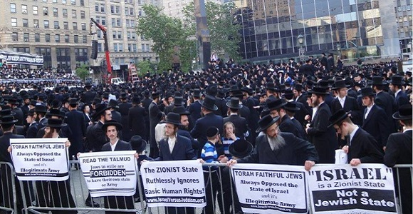 20,000 Orthodox Torah Jews Protesting The Zionist State of Israel