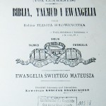 """Rabin Eliasz Sołoweyczyk, """"Kol Kore, Biblia, Talmud i Ewangelia - Ewangelia Świętego Mateusza"""", Paryż 1897 - strona tytułowa"""