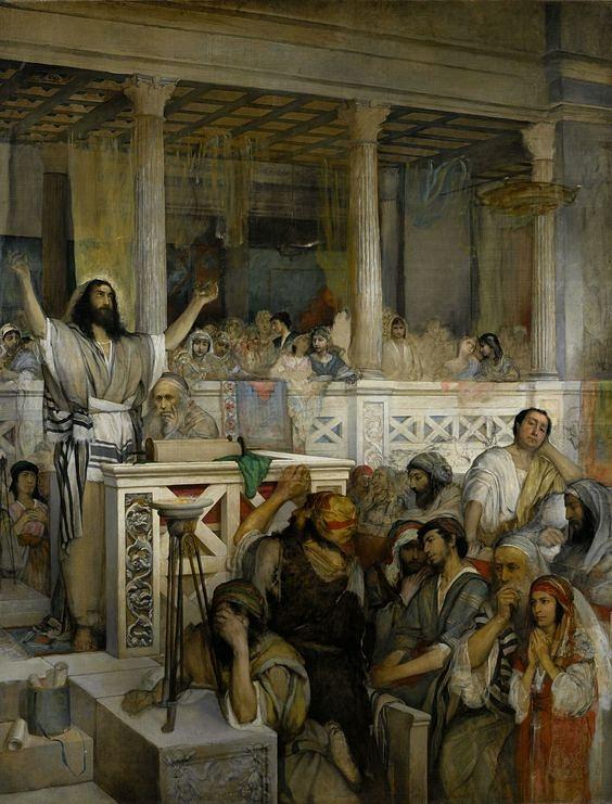 "Maurycy Gottlieb (1856 – 1879), ""Christ Preaching at Capernaum"" - 1879"